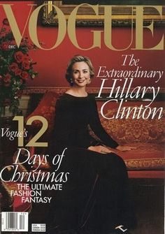 """December 1998: Hillary Clinton is the first First Lady to cover """"Vogue."""""""