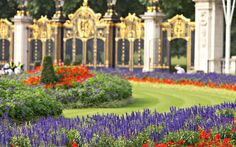 Buckingham Palace, London     The Queen's famous garden parties are held in Buckingham Palace's garden, a 42-acre stretch of green to the rear of the palace. The landscape was originally shaped by famous garden designer Capability Brown, but was redesigned in Geroge IV's reign.  Picture: Alamy