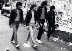 The Ramones in stripes