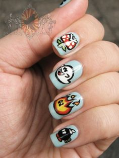 Super Mario nails - how cute are these?