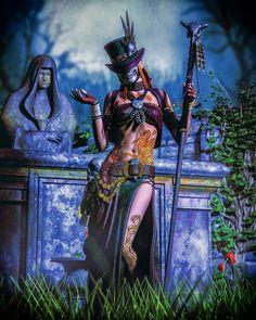 Voodoo Costume, Voodoo Halloween, Voodoo Priestess Costume, Voodoo Dolls, Black Women Art, Black Art, Witch Doctor, Steampunk, Witch Art