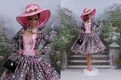 Robe   Clotilde   tenue pour Barbie Silkstone Fashion Royalty