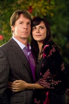 Chris Potter and Catherine Bell star in The Good Witch's Garden on Hallmark Channel .