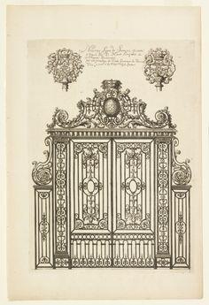Print, Title Page, Nouveau Livre de Serrurie (New Book of Ironsmithing), ca. 1700