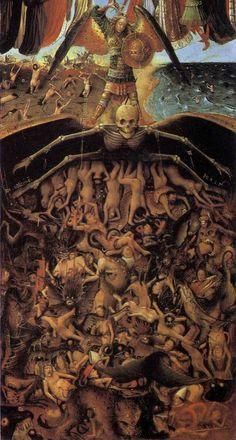 The Crucifixion The Last Judgment Jan van Eyck and Workshop Assistant The Crucifixion The Last Judgment 33 Jan Van Eyck, Renaissance Paintings, Renaissance Art, Italian Renaissance, Catholic Art, Religious Art, Satanic Art, Hieronymus Bosch, Occult Art
