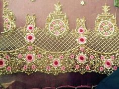 Hand Work Embroidery, Embroidery Suits, Embroidery Fashion, Hand Embroidery Designs, Beaded Embroidery, Embroidery Stitches, Embroidery Patterns, Goldwork, Edwardian Dress