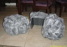 DIY Halloween Prop: Cemetery Rocks.  This looks EXTREMELY time consuming, but it's a cool idea.