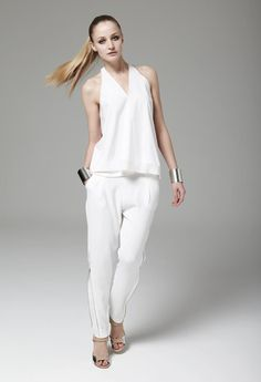 AW'12 White Hot: The most minimal of shades was brought to the forefront on this editorial shoot