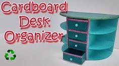 How to make a Cardboard Desk Organizer - Ana | DIY Crafts