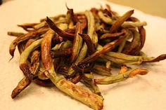 green bean fries - a crunchy low carb snack
