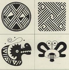 Dibujos sobre arte precolombino - Antonio Grass Ethnic Patterns, Textures Patterns, Colombian Art, Native Design, Popular Art, Ancient Symbols, Pattern Library, Book Projects, Sacred Art