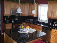 Kitchen Backsplash Dark Granite