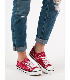Červené tenisky so vzorom Chuck Taylor Sneakers, Chuck Taylors, Shoes, Fashion, Moda, Zapatos, Shoes Outlet, Fasion, Shoe
