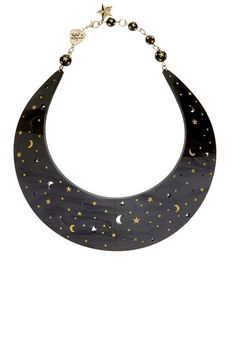 Midnight Mystic Collar Necklace - want to go with my short dance party wedding dress. Moon Jewelry, Jewelry Necklaces, Feminine Symbols, Moon Decor, Laser Cut Jewelry, Tatty Devine, Stars And Moon, Collar Necklace, Mystic
