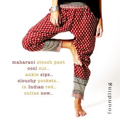 ..the essential slouch pants.. www.foundling.com.au