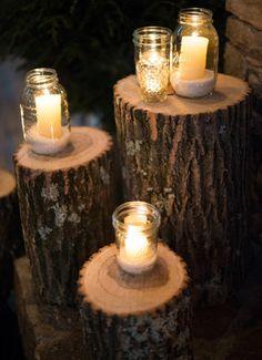 rustic winter wedding decor