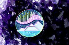 Aurora Borealis Pin duochrome northern lights enamel lapel