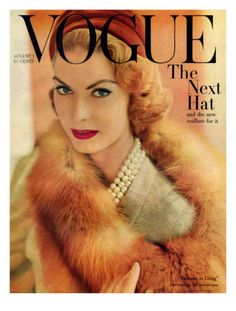 Vogue Cover - August 1957 by Horst P. Horst.