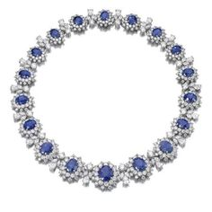 Important Sapphire and diamond necklace, BVLGARI