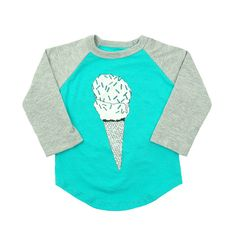 Ball Tee with Ice Cream Print - mini mioche - organic infant clothing and kids clothes - made in Canada Boys Like, My Boys, Spring Summer 2015, Infant Clothing, Spring Outfits, Cool Outfits, Graphic Sweatshirt, Sweatshirts, Tees