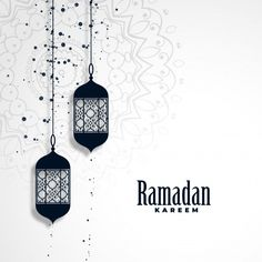Ramadan kareem season background with hanging lamps Free Vector Dj Party, Eid Adha Mubarak, Ramadan Background, Muslim Ramadan, Ramadan Kareem Vector, Magick Book, Eid Cards, Islamic Cartoon, Creative Background