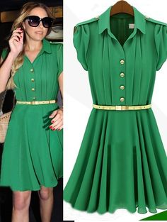 Morpheus Boutique  - Green Chiffon Pleated Cap Sleeve Celebrity Belted Pleated Hem Dress, $79.99 (http://www.morpheusboutique.com/green-chiffon-pleated-cap-sleeve-celebrity-belted-pleated-hem-dress/)