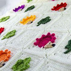 colorful hedgehog blanket - Found at AllCrochetPatterns.net