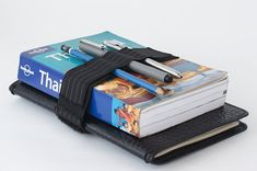 Pen bandolier for travel journals and books  Large by SunriseNomad, $14.00