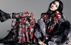 Chiharu Okunugi by Daniel Jackson for Vogue China October 2013 #roses