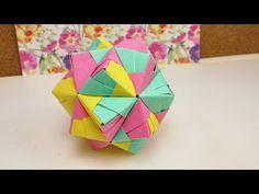 DIY Origami Stern 30 Teile   SONOBE BALL   Origami Entspannung & Dekoration   DIY Star - YouTube