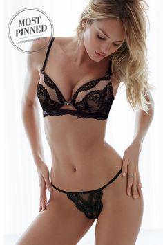 One word: Seduction. | Victoria's Secret Chantilly Lace Halter Bra
