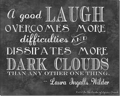 laura ingalls wilder: a good laugh