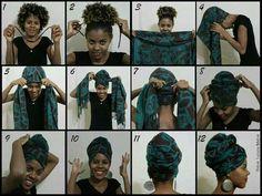 6c2ea588a789 Tuto attaché foulard   Headwrap tuto Nouer Foulard Cheveux, Attacher Foulard,  Coiffure Avec Foulard