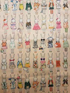 Retrouvez cet article dans ma boutique Etsy https://www.etsy.com/fr/listing/574314204/tissu-enduit-lapins
