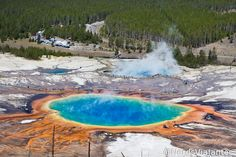 Grand Prismatic Spring - Yellowstone National Park - United States
