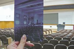 Neumiller Lecture Hall (first floor of Bradley Hall) was Bradley's original campus theatre. Reconstruction was funded by the Louis B. Neumiller family after the Bradley Hall fire in 1963. Renovated again in 1987, this lecture hall has a seating capacity of 320.
