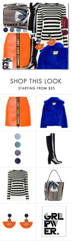 """""""GIRL POWER: Power Look"""" by octobermaze ❤ liked on Polyvore featuring Heron Preston, MSGM, Terre Mère, H&M, Bella Freud, Rebecca Minkoff, Stupell, girlpower and powerlook"""
