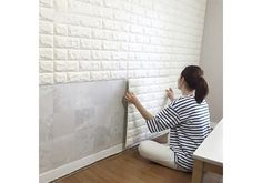 Art3d 6 Sq.Ft Peel and Stick 3D Wall Panels White Brick Wallpaper $19.99 (walmart.com)