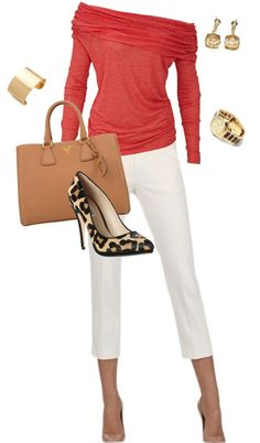"""outfit5"" by luv2shop321 on Polyvore  love the color combo with the leopard print shoe"