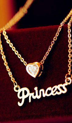 English letters love hearet double necklace #AHAI #FASHION #WOMEN