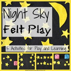 5 Activities for Night Sky Felt Play Repins or Likes would be awesome. Don't forget to listen to my music on youtube :) Thank you