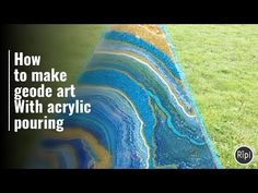 How to make geode art with acrylic pouring - Luna Creations by Claire Lanchester - YouTube