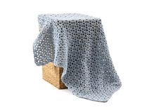 Blue Baby Blanket - Crochet Baby Blanket - Handmade Baby Blanket