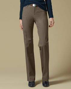 Truly Straight Stayshape® Twill Trousers | Eddie Bauer