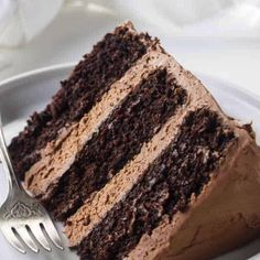 This chocolate cake is an easy, adaptable recipe. All you need is one bowl and less than 10 minutes to mix the batter. This recipe is a keeper! Pin it, bookmark it, save it however you save things bec Sour Cream Chocolate Cake, Sour Cream Cake, Chocolate Cake Recipe Easy, Chocolate Recipes, Chocolate Buttercream, Chocolate Mouse Cake Filling, Costco Chocolate Cake, Chocolate Cake Recipe Without Buttermilk, Triple Layer Chocolate Cake