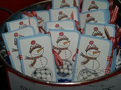 Winter tic tac box cover really cute....I have made them before but not like snowmen