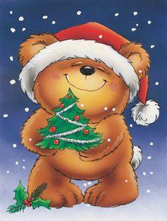 Teddy Bear and Christmas Tree 2-Sided Garden Flag