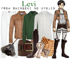 otakucouture:  [Shingeki no Kyojin] Lance Corporal Levi Here's an SnK-inspired outfit for the guys. (~ ̄▽ ̄)~ I couldn't find a casual white ascot, so I had to go with this beige one. Tie it as usual but leave the ends untucked. #titan tuesdays  Requested by Anonymous. Please see the Shingeki no Kyojin tag for female variations of the SnK military uniform.