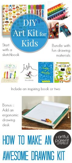 How to Make a Kids Art Kit: 6 DIY Gifts to inspire Creativity - such a great idea for the kiddos!!
