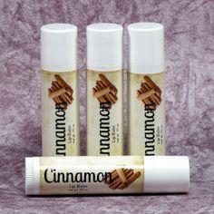 Cinnamon Lip Balm - Vegan - Handmade All Natural Lip Balm - Available in three container options, Tube, Jar or Tin